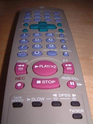 Household Photographs - Picture of VCR Video Cassette Recorder Remote Control Unit
