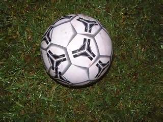 Miscellaneous Photographs - Picture of English football soccer ball on grass