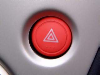 Vehicles Photographs - Picture of Emergancy lights button on aluminium panel in Honda Civic Max